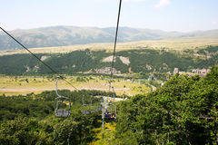 Ropeway in Jermuk Immagine Stock