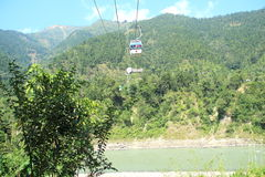 Ropeway In Nepal. Stock Images