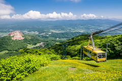 Ropeway om Usu-top, Hokkaido, Japan op te zetten Royalty-vrije Stock Fotografie