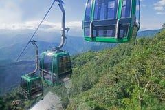 Ropeway på Namchi, Sikkim vid Sikkim turism, Indien Arkivbild