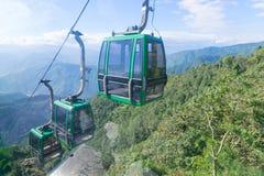 Ropeway przygotowania przy Namchi, Sikkim, India Obrazy Royalty Free