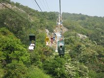 Ropeway at Rajgir, Bihar, India Stock Photos