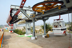 Ropeway Service in India Stock Photo