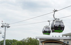 Ropeway in Silesian Park. Stock Photography