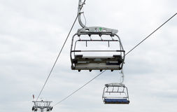 Ropeway in Silesian Park. Stock Images