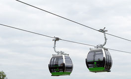 Ropeway in Silesian Park. Royalty Free Stock Photography