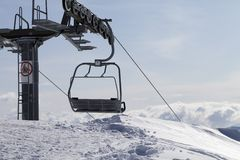 Ropeway on ski resort Stock Photography