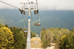 Ropeway. Sochi Royalty Free Stock Photography