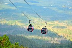 Ropeway. Royalty Free Stock Photography