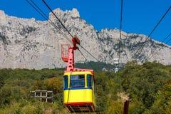 Ropeway to Ai-Petri in Crimea mountains, Ukraine Stock Photography