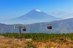 Ropeway to the Mount Fuji, Japan Royalty Free Stock Photography