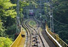 Ropeway to Mount Koya, Japan stock image