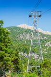 Ropeway to Mount Tahtali Royalty Free Stock Image