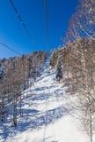 Ropeway to mountain Tserkovka in  the resort of Belokurikha, Altai. Russia Stock Photos