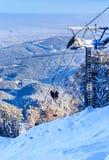 Ropeway to mountain Tserkovka in  the resort of Belokurikha. Altai, Russia Stock Photo