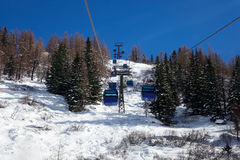 Ropeway uphill Stock Images