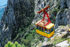 Ropeway in Yalta leading to the top of Ai-Petri mountain, Crimea Royalty Free Stock Photos