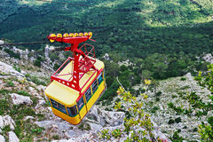 Ropeway in Yalta leading to the top of Ai-Petri mountain, Crimea Stock Photography