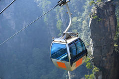 Ropeway at zhangjiajie Royalty Free Stock Images