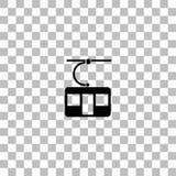 Ropewaycabinessymbol framl?nges vektor illustrationer