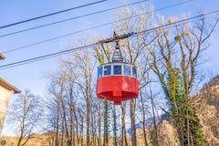 Ropewaygondol, Predigstuhlbahn Royaltyfri Fotografi