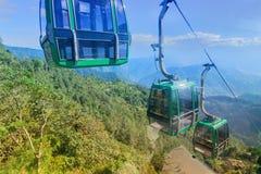 Ropewayordning på Namchi, Sikkim Royaltyfri Foto