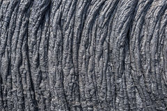Ropey лавовый поток в Гаваи Стоковые Фотографии RF