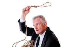 Roping businessman Royalty Free Stock Photos