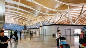 A?roport international de Shanghai Pudong, Chine photo stock