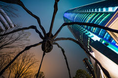Roppongi hills building. With spider sculpture stock images