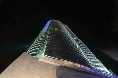 Roppongi Hills Mori Tower. In Tokyo, Japan at night stock photography