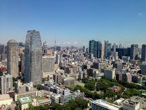 Roppongi, Minato, Tokyo. View at modern skyscrapers in Roppongi district in Minato, Tokyo, Japan. This district is well known as the city's most popular Royalty Free Stock Photo