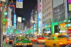 Roppongi , Tokyo, Japan. Roppongi is known as the centre of nightlife for foreigners in Tokyo. The picture shows busy scenario in Roppongi Japan when the street stock photos