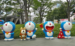 Roppongi Tokyo, 18 July 2016 - Doraemon exhibition in the open area. Stock Images