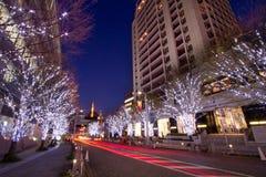 Roppongi Weihnachtsablichtung in Tokyo Lizenzfreies Stockfoto