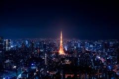 Roppongihills,Tokyo Nightscape,Tokyo Tower stock image