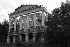 Ropsha Palace. Beautiful ruins of the Palace in Ropsha. Russia, Leningrad region Stock Image