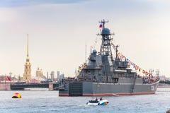 Ropucha-klasse landend schip, Project 775 Stock Fotografie