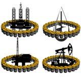 Ropy naftowe business-4 Zdjęcia Royalty Free