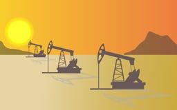 Ropy naftowe, olej, przemysł ilustracji