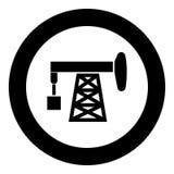 Ropy naftowej ikony czerni pompowego koloru wektorowy ilustracyjny prosty wizerunek Obrazy Royalty Free