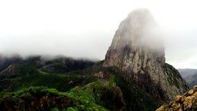 Roque Agando,戈梅拉岛 库存照片