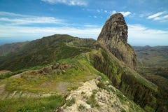 Roque Agando. Is located in La Gomera, Canary Islands Royalty Free Stock Photos