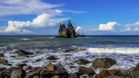 Roque Benijo - pamięć od wyspy Tenerife Obrazy Royalty Free