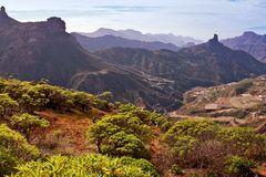 Roque Bentayga in Gran Canaria Stock Photography