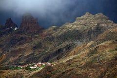 Roque Bentayga, landmark of Gran Canaria Royalty Free Stock Image