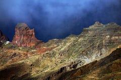 Roque Bentayga, landmark of Gran Canaria Royalty Free Stock Photography