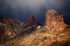 Roque Bentayga, landmark of Gran Canaria Royalty Free Stock Photos
