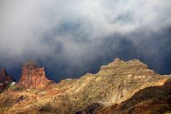 Roque Bentayga, landmark of Gran Canaria Royalty Free Stock Images