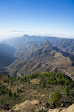 Roque Bentayga from Roque Nublo Royalty Free Stock Images